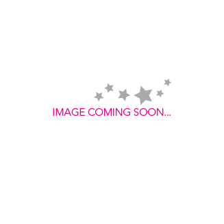 Disney Mickey Mouse 90 Years White Gold-Plated Black Stud Earrings